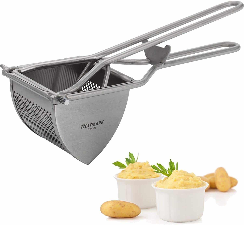 EDELSTAHL Kartoffelpresse Presse Gemüsepresse für Spätzle Pasta Spaghetti-Eis
